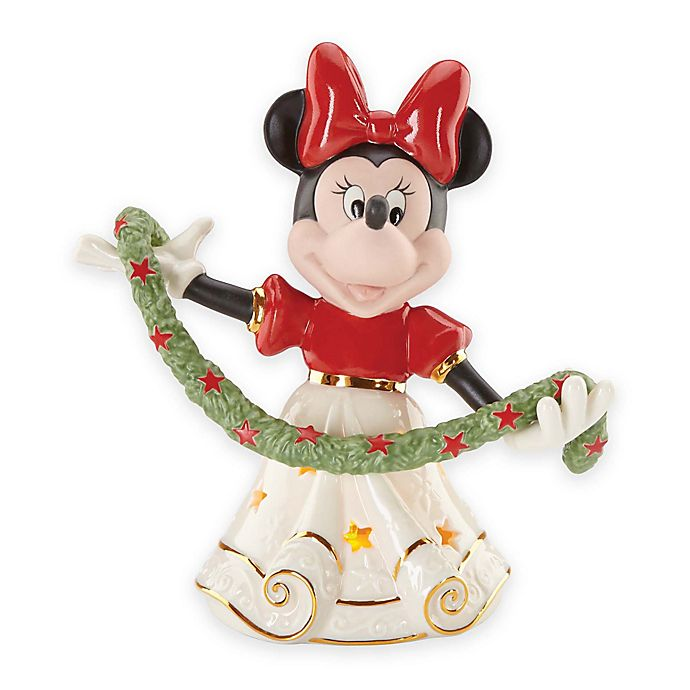 lenox disney merry minnie lit figurine - Lit Minnie