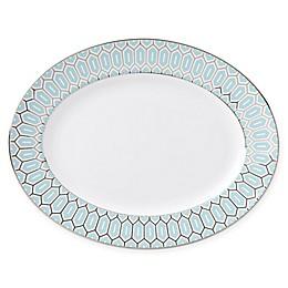 Brian Gluckstein by Lenox® Clara™ Aqua 13-Inch Oval Platter