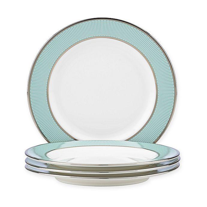 Alternate image 1 for Brian Gluckstein by Lenox® Clara™Aqua Tidbit Plates (Set of 4)