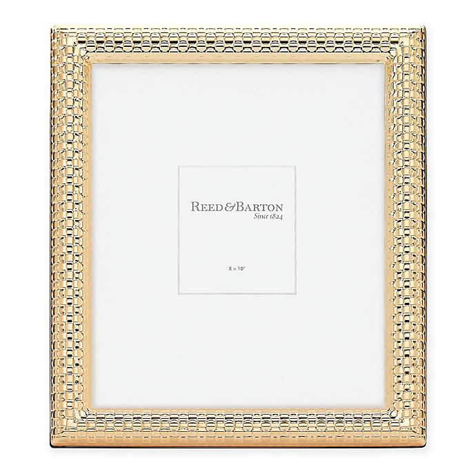 Alternate image 1 for Reed & Barton Watchband 8-Inch x 10-Inch Picture Frame in Satin Gold