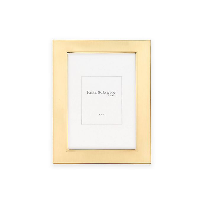 Alternate image 1 for Reed & Barton Classic Gold 4-Inch x 6-inch Picture Frame