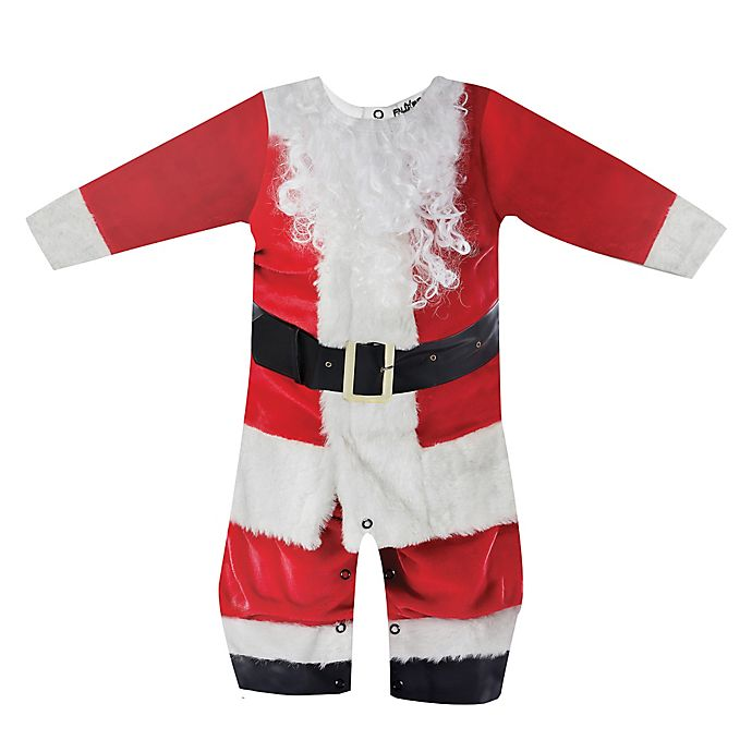 Alternate image 1 for Faux Real Santa Suit Romper