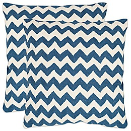 Safavieh Striped Tealea 22-Inch  Throw Pillows (Set of 2)