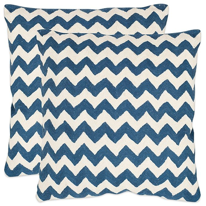 Alternate image 1 for Safavieh Striped Tealea 22-Inch  Throw Pillows (Set of 2)