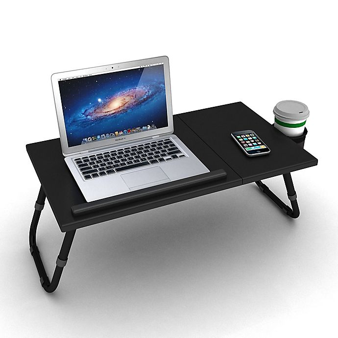 Alternate image 1 for Adjustable Laptop Tray in Black