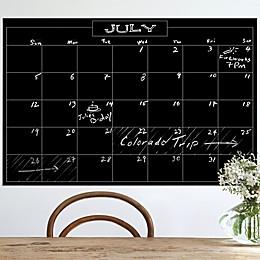 Wallies Peel & Stick Monthly Chalk Calendar Decal