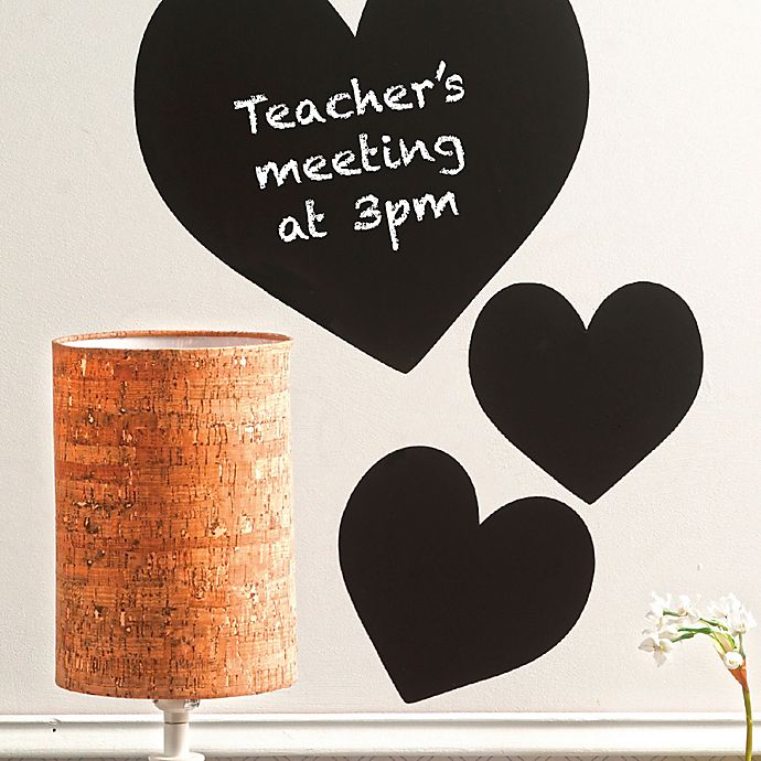 Alternate image 1 for Wallies Peel & Stick Chalkboard Hearts Decals