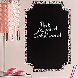 Wallies Pink Leopard Chalkboard