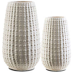 Surya Reba Ceramic Table Vase in Ivory
