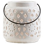 Style Statements by Surya Kimba Small Ceramic Tealight Lantern in Ivory