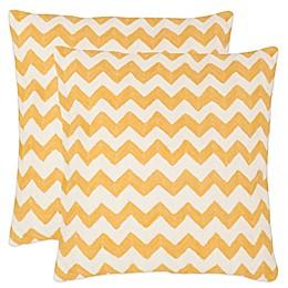 Safavieh Striped Tealea Throw Pillows (Set of 2)