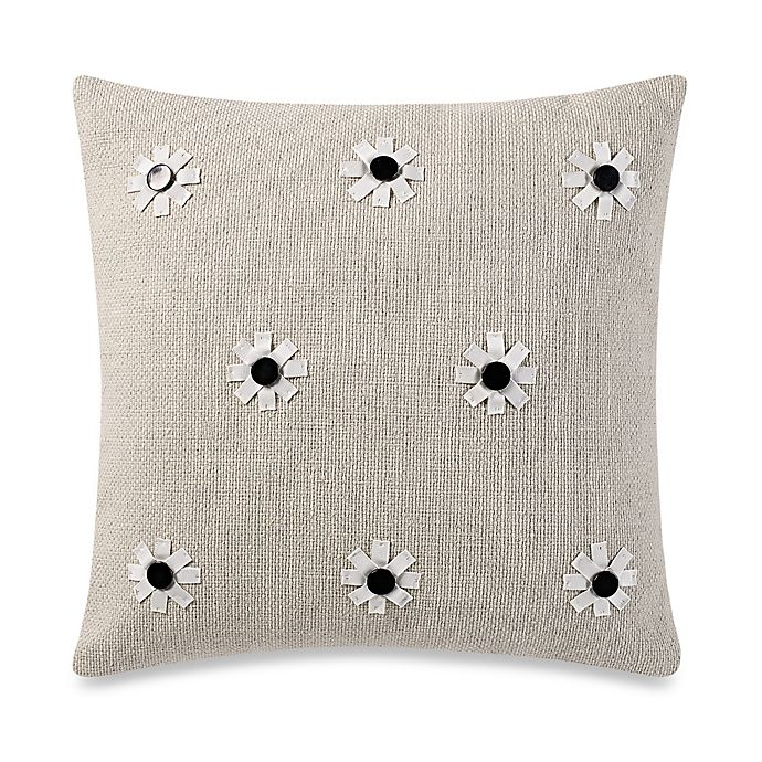 Alternate image 1 for kate spade new york Flower Applique Throw Pillow in Flax