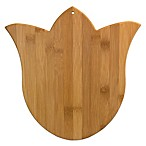 Tulip-Shaped Bamboo Cutting/Serving Board