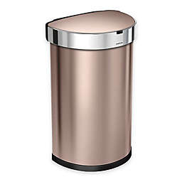 simplehuman® Fingerprint-Proof 45-Liter Semi-Round Sensor Trash Can