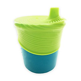 Silikids® 8 oz. Silicone Cup with Sippy Top in Teal/Lime