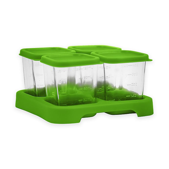 Alternate image 1 for green sprouts® Fresh Baby Food 4 oz. Glass Cubes in Green (Set of 4)
