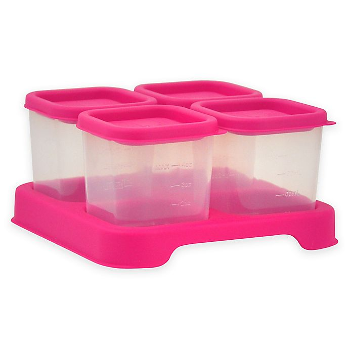 Alternate image 1 for green sprouts ® 4 oz. Fresh Baby Food Unbreakable Cubes in Pink (Set of 4)