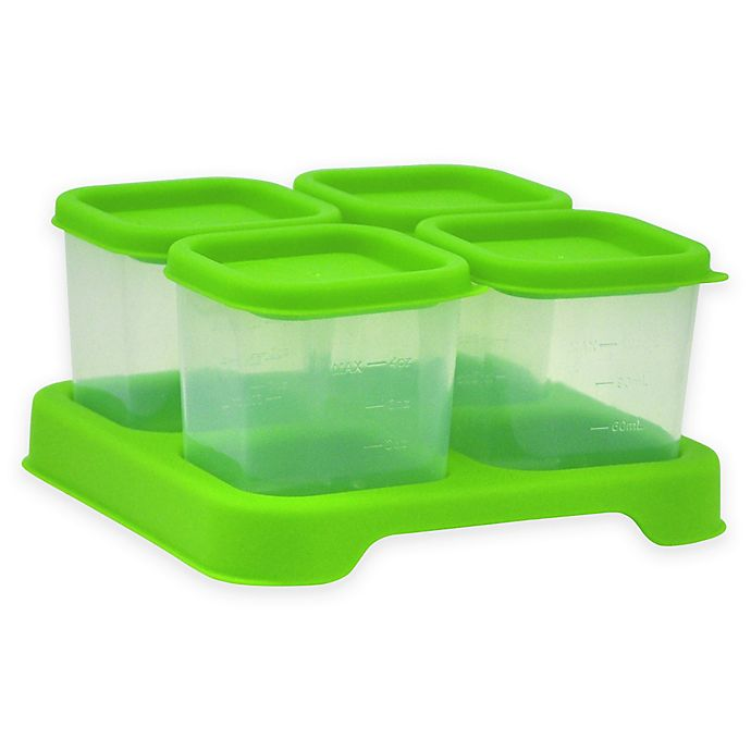 Alternate image 1 for green sprouts ® 4 oz. Fresh Baby Food Unbreakable Cubes in Green (Set of 4)