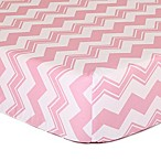 The Peanutshell™  Chevron Fitted Crib Sheet in Pink