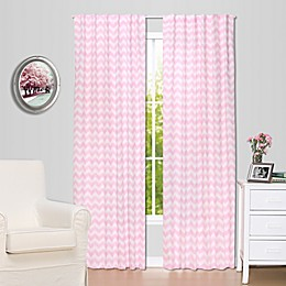 The Peanutshell™  Chevron Window Panel Pair in Pink