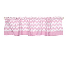 The Peanutshell™  Chevron Window Valance in Pink