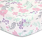 The Peanutshell™  Floral Fitted Crib Sheet in Pink