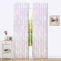 The Peanutshell™  Floral Blackout Window Panel Pair in Pink