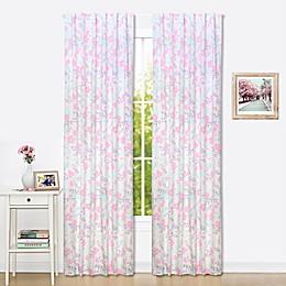 The Peanutshell™  Floral Window Panel Pair in Pink