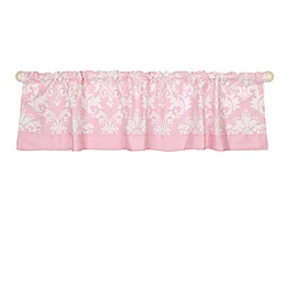 The Peanutshell™  Damask Window Valance in Pink