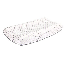 The Peanut Shell™ Triangles Changing Pad Cover in Purple