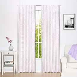 The Peanut Shell™ Triangles Window Panels in Purple (Set of 2)