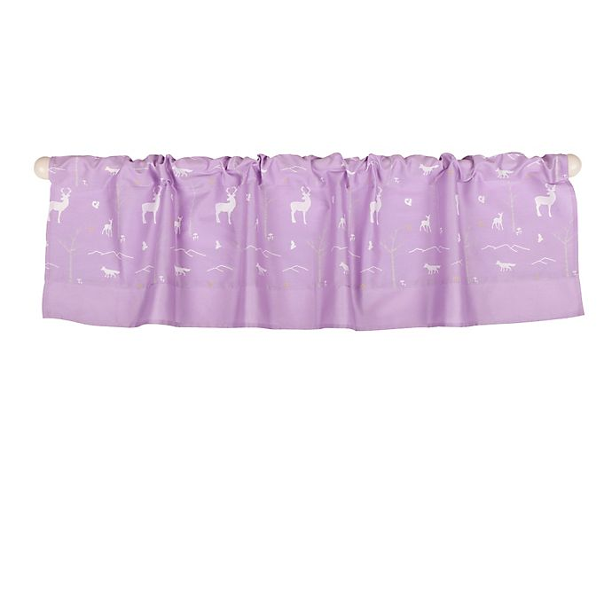 Alternate image 1 for The Peanut Shell™ Woodland Window Valance in Purple