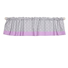 The Peanut Shell™ Arrows Window Valance in Purple/Grey