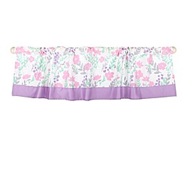 The Peanutshell™ Floral Window Valance in Pink