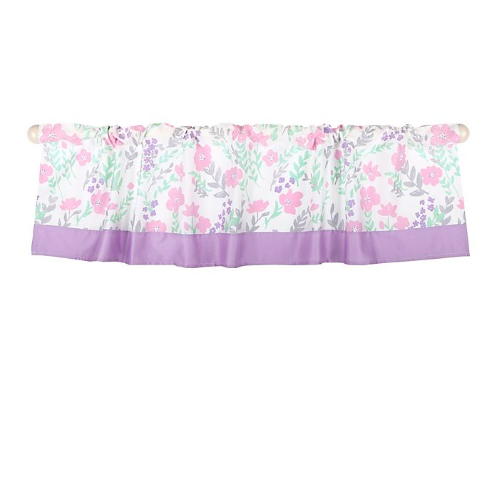 Alternate image 1 for The Peanutshell™ Floral Window Valance in Pink