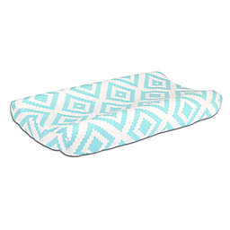The Peanut Shell™ Tiles Changing Pad Cover in Teal