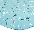 The Peanut Shell® Woodland Fitted Crib Sheet in Teal
