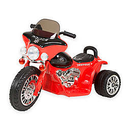Lil Rider Mini Battery-Operated Three-Wheel Police Chopper in Red