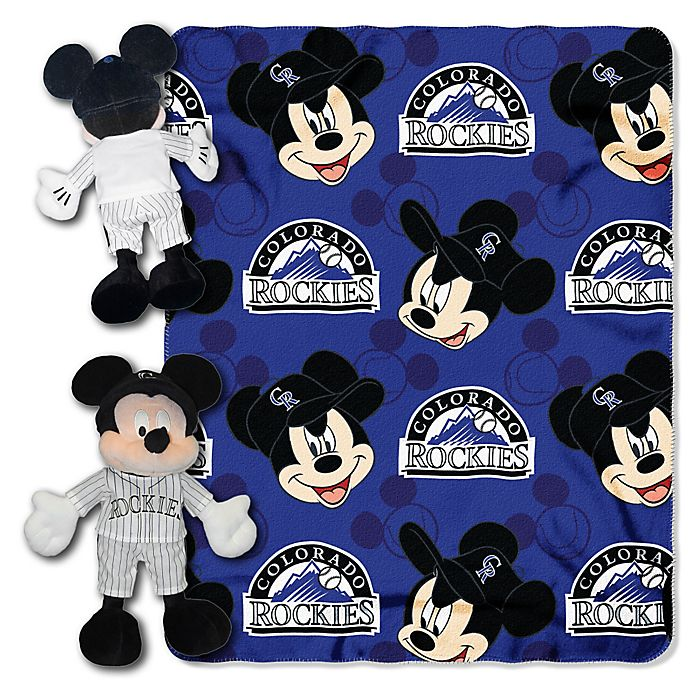 Alternate image 1 for MLB Colorado Rockies & Mickey Hugger and Throw Blanket Set by The Northwest