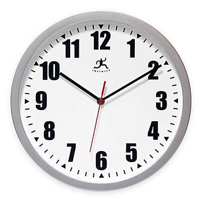 Infinity Instruments Silver Office Wall Clock