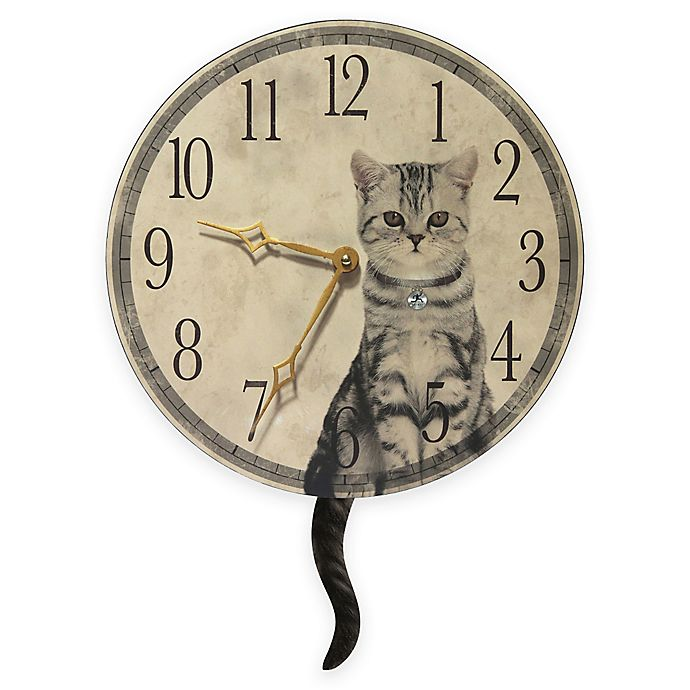 Alternate image 1 for Infinity Instruments Cat Wall Clock