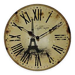 Infinity Instruments Eiffel Tower Wall Clock