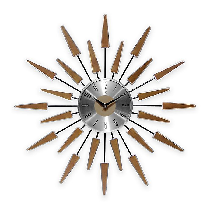 Alternate image 1 for Infinity Instruments Mid-Century Modern Vintage Wall Clock