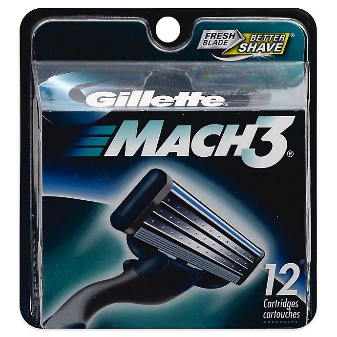 Alternate image 1 for Gillette MACH3 Men's Razor Blade Refills 12 Count