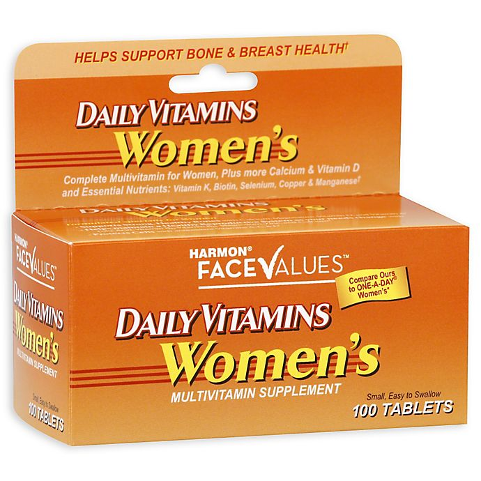 Alternate image 1 for Harmon® Face Values™ 100-Count Women's Daily Vitamins Multivitamin Supplement
