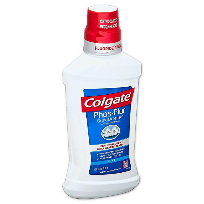 Alternate image 1 for Colgate® Phos-Flur® Ortho Defense™ 16 oz. Anticavity Dental Rinse in Mint