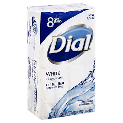 Dial® White Bar 8-Count 4 oz. Antibacterial Deodorant Soap
