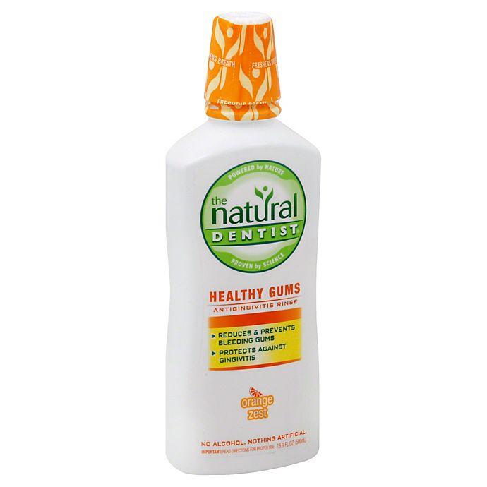 Alternate image 1 for The Natural Dentist® Healthy Gums® 16.9 oz. Antigingivitus Rinse in Orange Zest