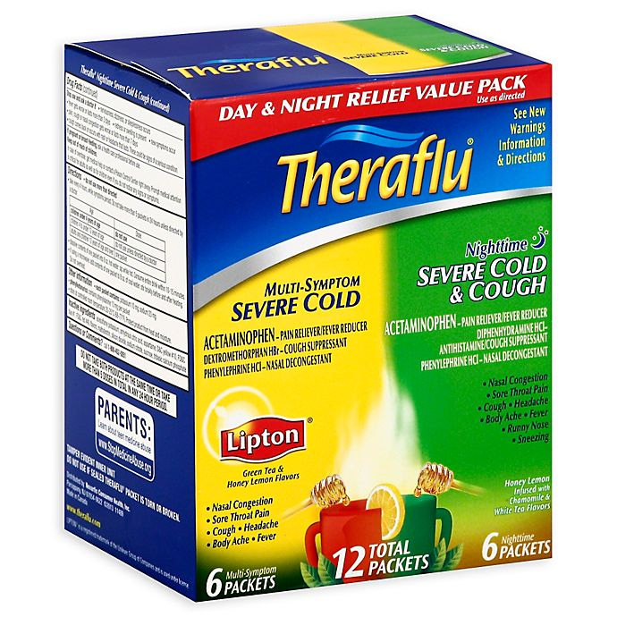 TheraFlu® 12-Count Day/Night Severe Cold Packets | Bed Bath