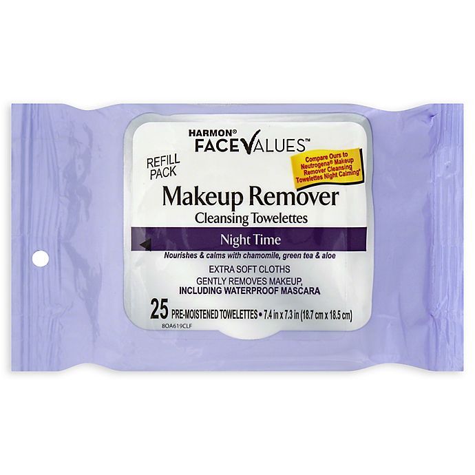 Alternate image 1 for Harmon® Face Values™ 25-Count Makeup Remover Night Towelettes